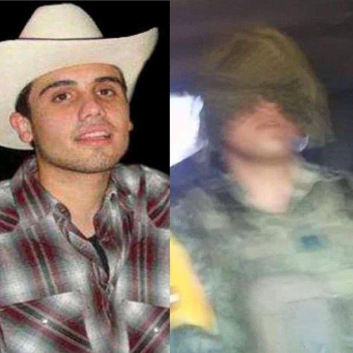 Hijo del Chapo Guzmán en vehículo