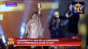 Carmencita Lara ganadora de Yo Soy temporada 24