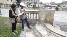 Roban piezas de mármol en Centro Histórico de Lima y Cultura reacciona
