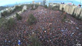 La marcha más grande de la historia de Chile