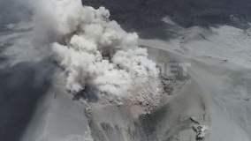Lava en volcán Sabancaya