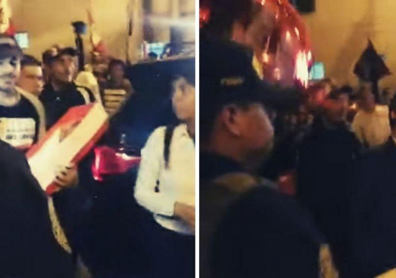 """Mark Vito recibe a Keiko Fujimori con globos rojos y ella le agradece """"sacrificio"""""""