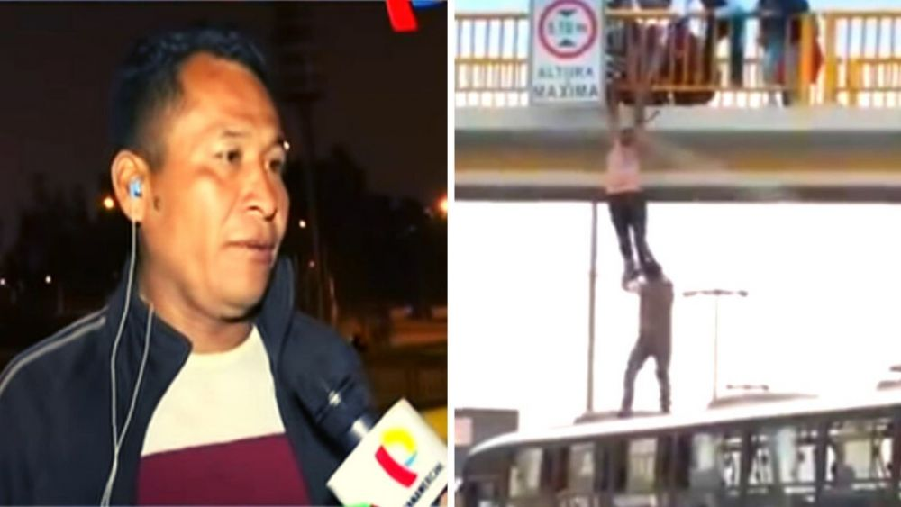 Conoce al héroe que salvó a un joven colgado de un puente en Villa El Salvador