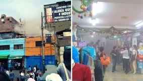 Incendio se registra en emporio comercial de Gamarra durante compras navideñas