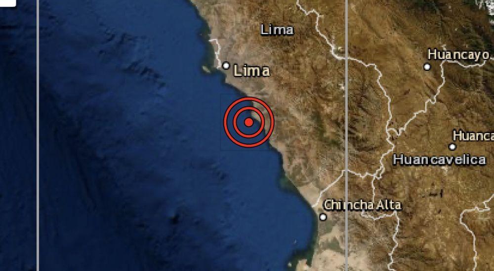 Sismo de magnitud 4.0 se registró hoy en Chilca, región Lima
