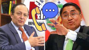 Llamadas del Defensor del Pueblo Walter Gutiérrez y César Hinostroza en la mira