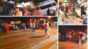 Tragedia en Arequipa: 14 muertos y 40 heridos por choque y volcadura de bus