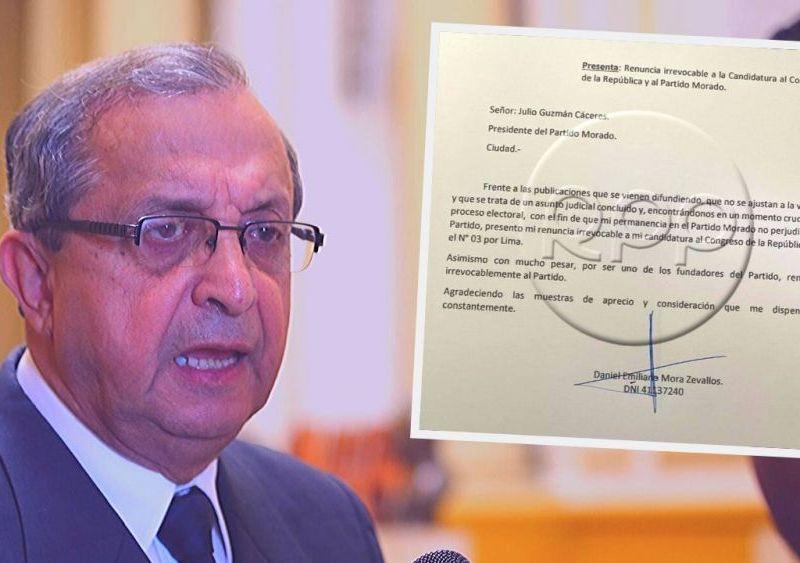 Daniel Mora renunció a su candidatura al Congreso tras denuncia por maltrato