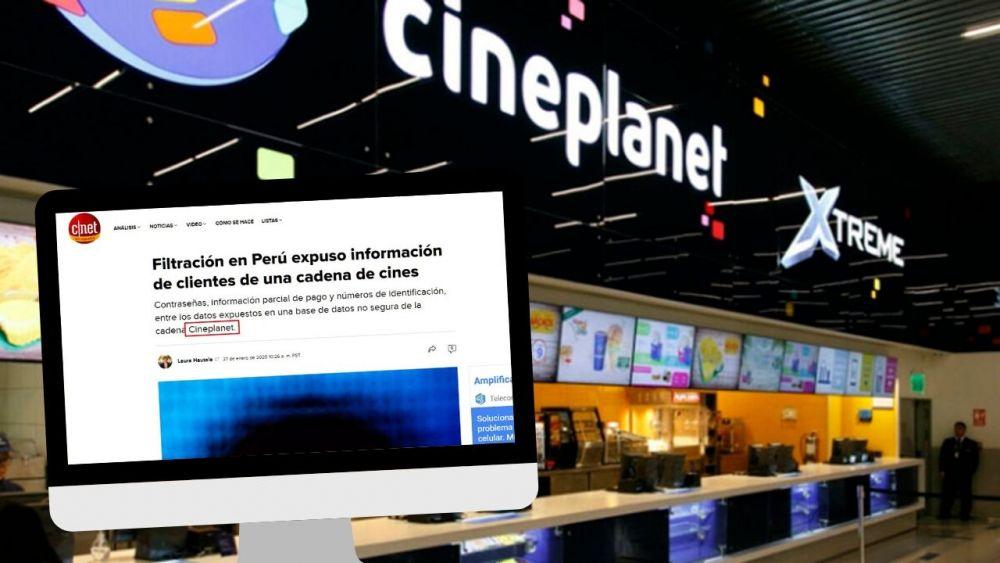 Filtran datos de clientes de Cineplanet del Perú incluso información de pagos