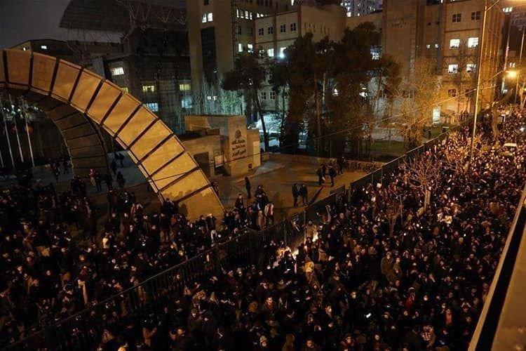 Régimen iraní reprime protestas en Teherán tras derribo de avión ucraniano