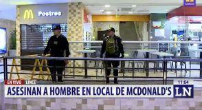 Sicarios asesinan a hombre en McDonald's del centro comercial Risso de Lince