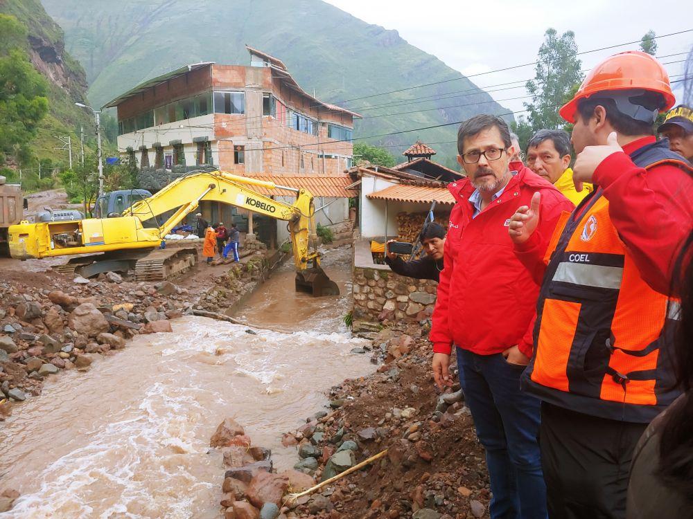 Pisac: gobierno busca contener emergencia y recuperar zona afectada por desborde del río Kitamayo