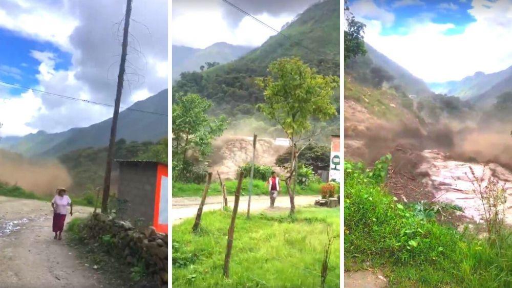 Cusco: Impactante video de aluvión que dejó varios desaparecidos