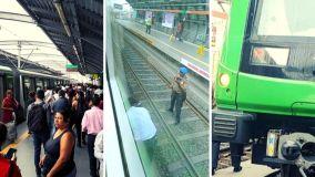 Hombre se lanzó a vías del tren eléctrico en la estación Angamos