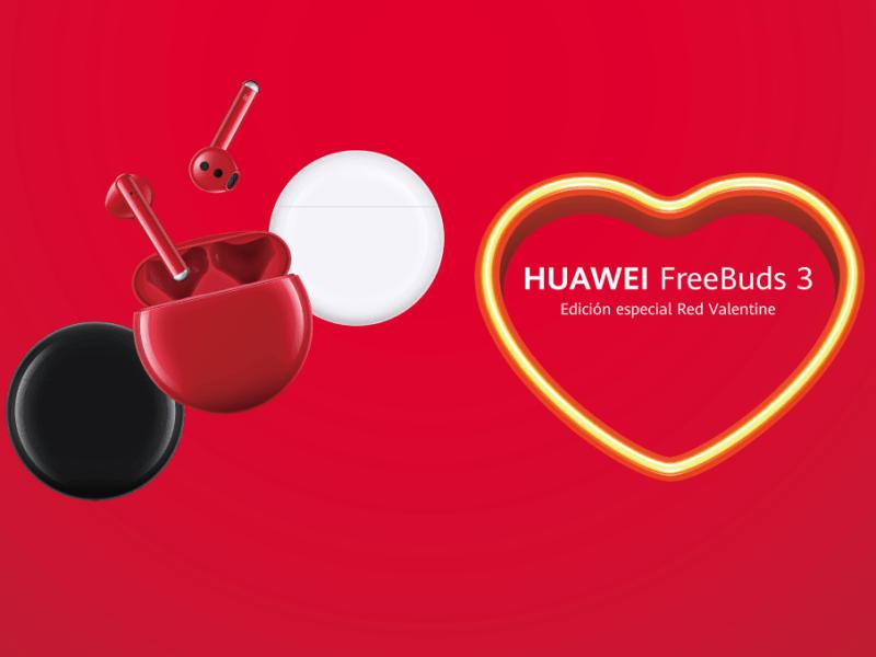 San Valentín: Expresa tus sentimientos con la nueva edición Roja de los HUAWEI FreeBuds 3
