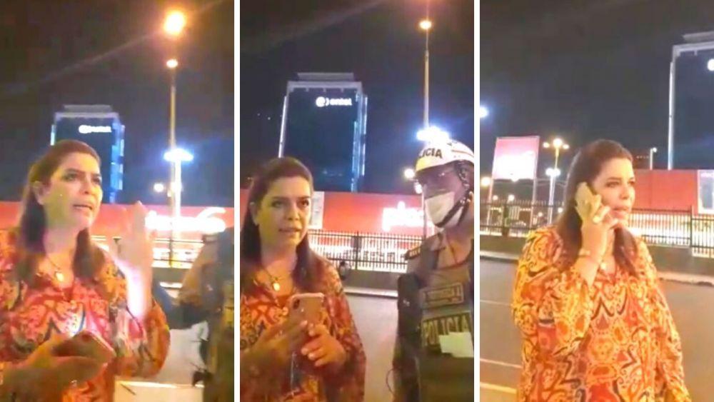 Milagros Leiva tuvo altercado con policía