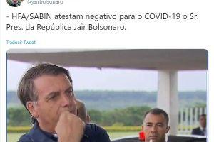 ¡No tiene coronavirus! Jair Bolsonaro, presidente del Brasil, dio negativo en segunda prueba