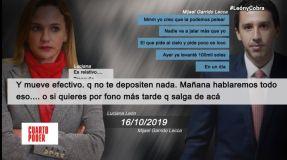 Luciana León sugería a Mijael Garrido Lecca no detallar gastos de campaña