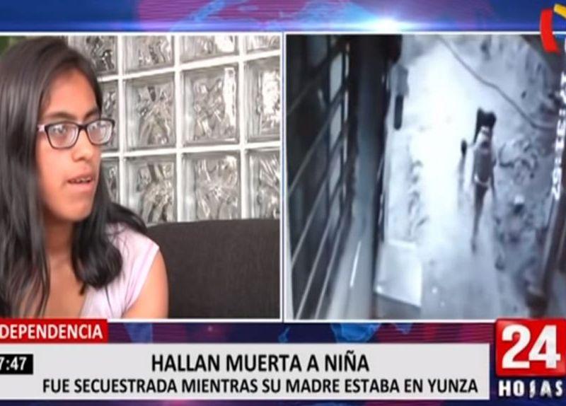 """Madre de niña asesinada en Independencia: """"Fue mi error dejarla por una fiesta"""""""