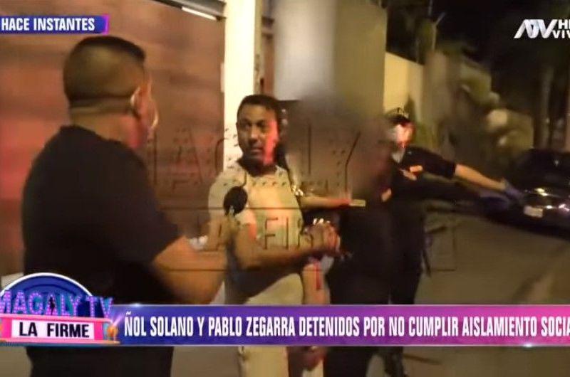 Nolberto Solano y Pablo Zegarra detenidos en una fiesta por incumplir cuarentena