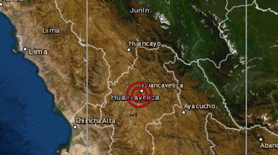 Sismo hoy en Huancavelica