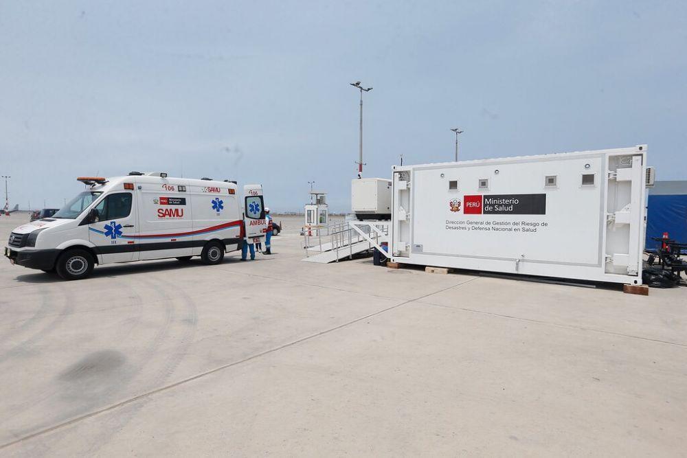 Perú se alista para llegada del coronavirus con hospital móvil en aeropuerto