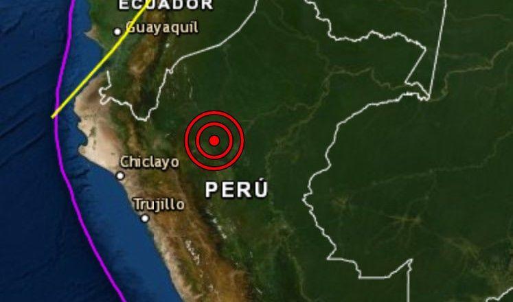 Sismo de magnitud 5.7 se registró hoy en Moyobamba, San Martín