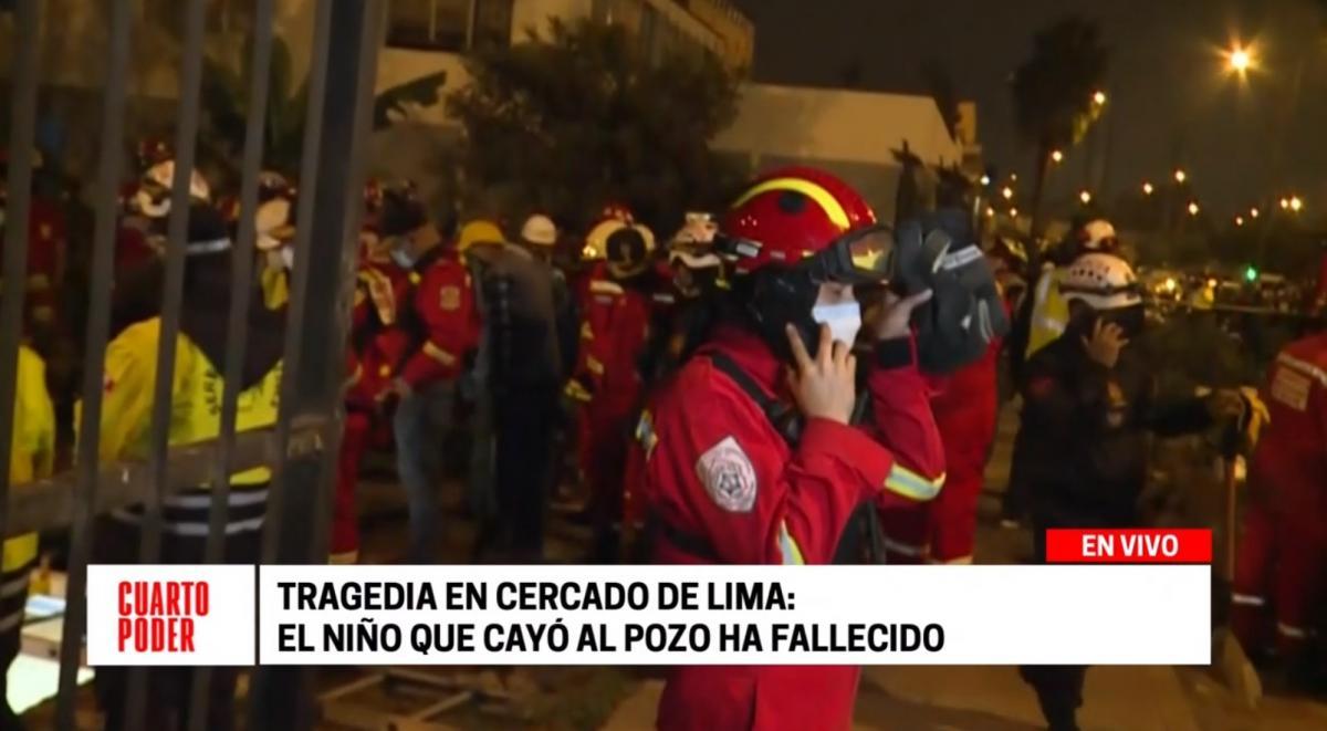 Falleció niño de dos años que cayó a un pozo en el Cercado de Lima