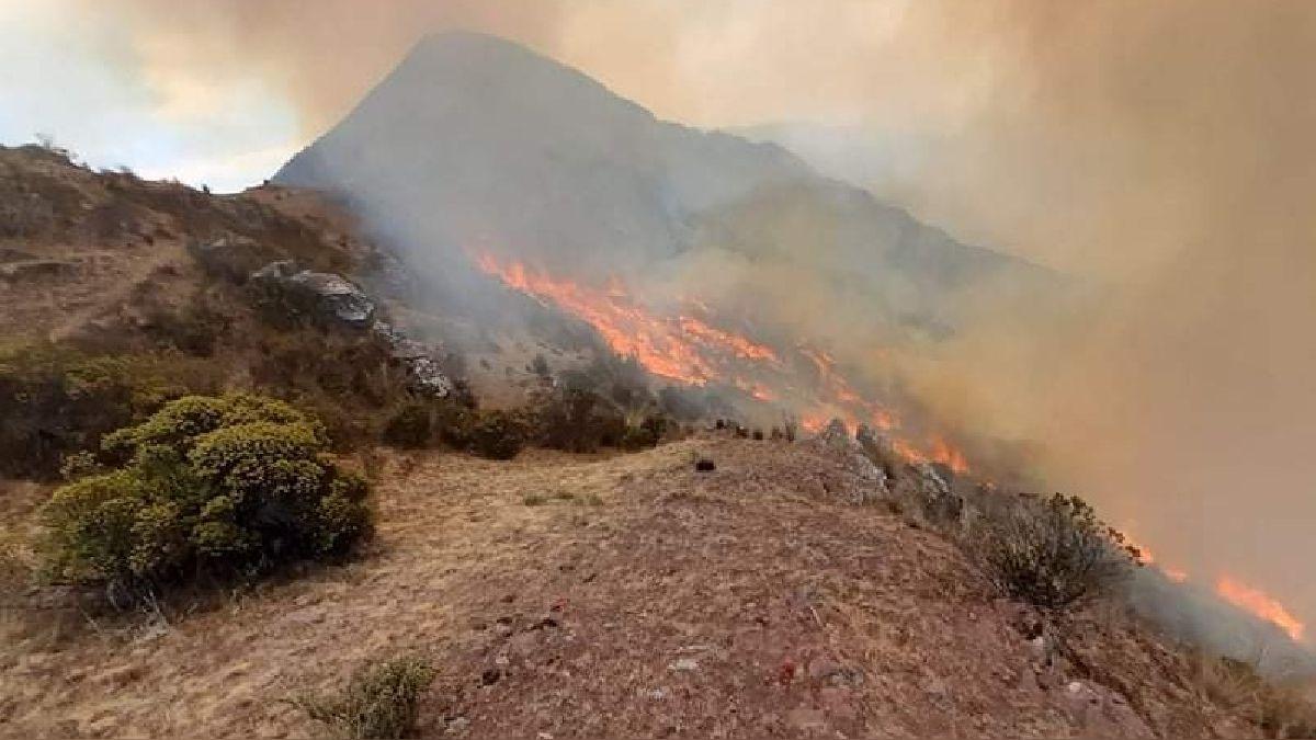 Incendios forestales en Concepción y Vilcashuamán