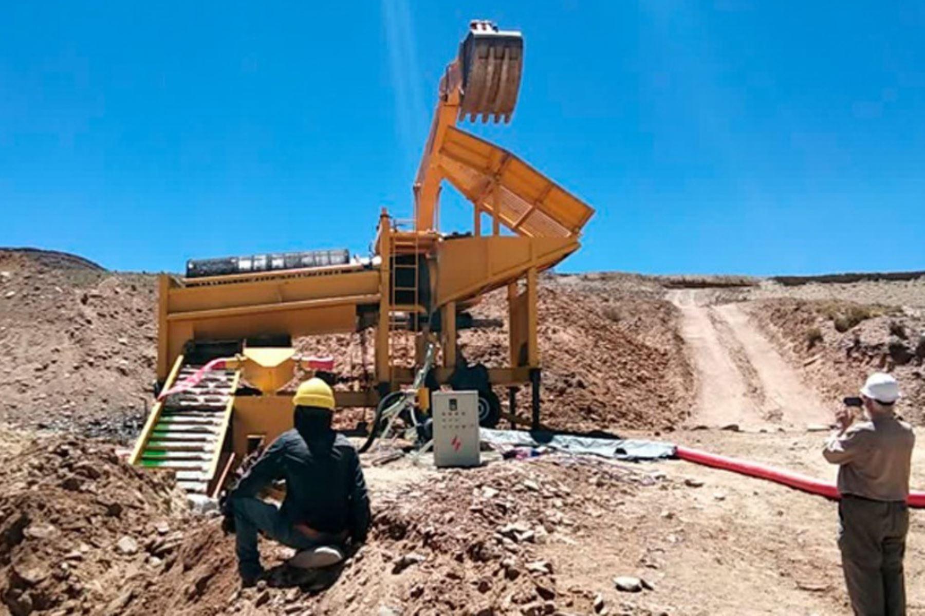 Actividad minera en el Perú