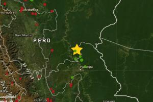 Sismo de magnitud 4.1 se registró hoy en Ucayali Contamana
