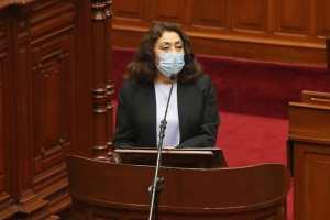 Premier Violeta Bermúdez solicitó el voto de confianza al Congreso de la República