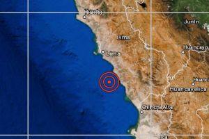 Sismo de magnitud 4.8 se registró hoy 1 de diciembre en Chilca y se sintió en Lima