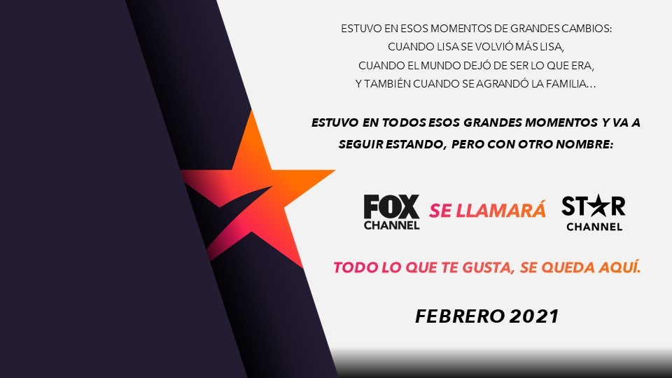 Fox Channel ahora será Star Channel