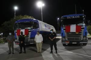 Llegan al Perú primeras 40 toneladas de oxígeno desde Chile