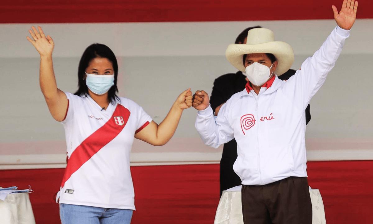 Debate presidencial entre Pedro Castillo y Keiko Fujimori