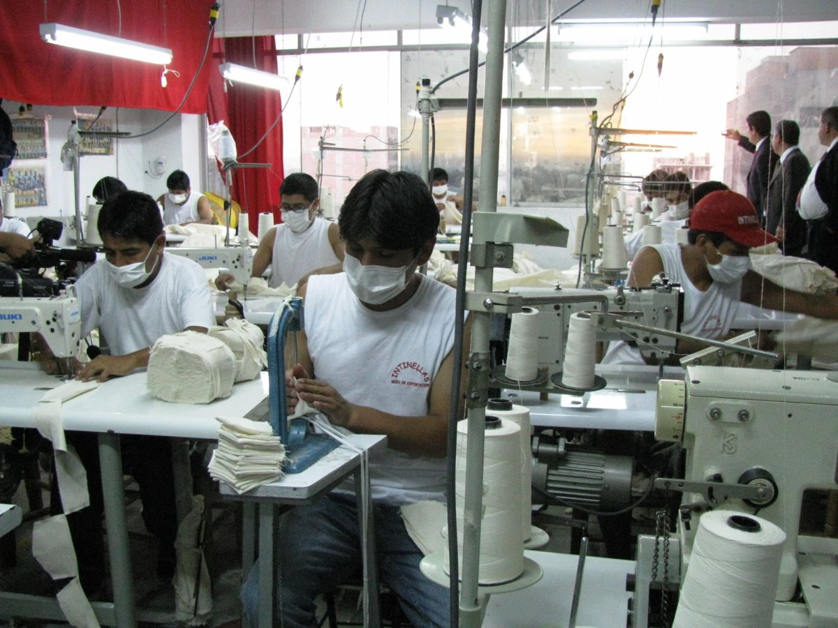 Trabajadores textiles
