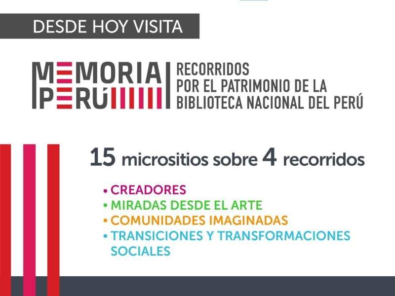 Memoria Perú. Recorridos por el patrimonio de la Biblioteca Nacional