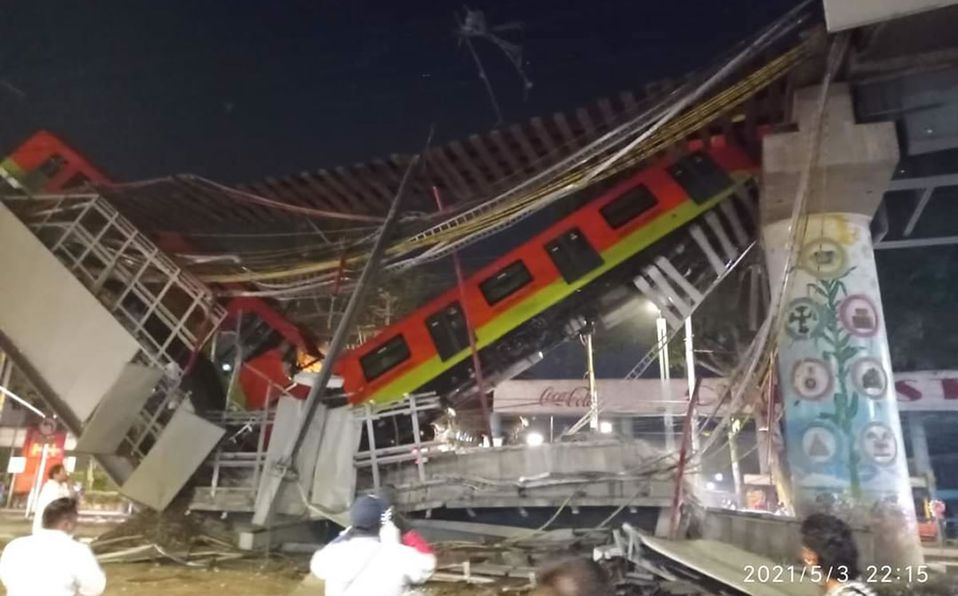 Tragedia en México por derrumbe de estación de la Línea 12 del Metro de Ciudad de México