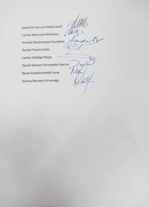 Carta de renuncia de periodistas de Cuarto Poder