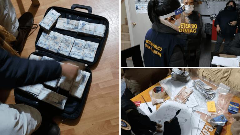 Fiscalía incautó casi S/ 500 mil a organización criminal 'Los Dinámicos del Centro'