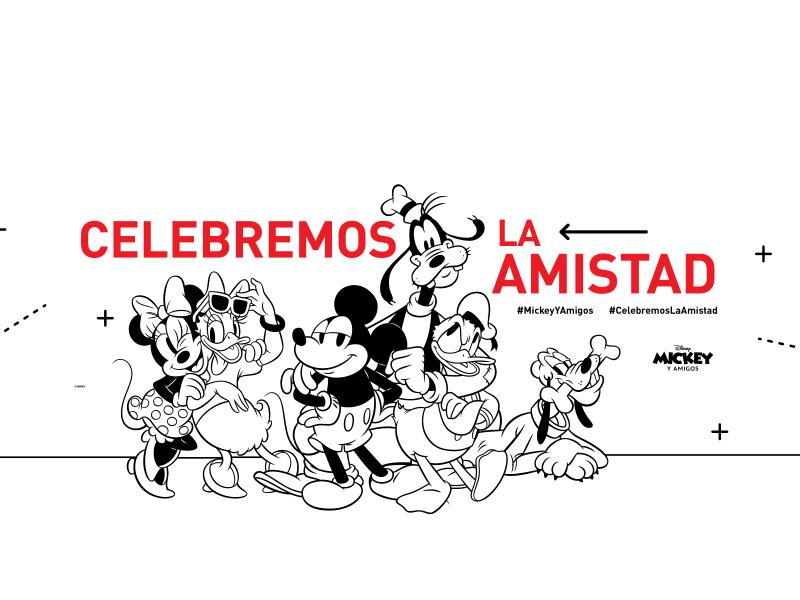 Celebremos la amistad con Mickey Mouse