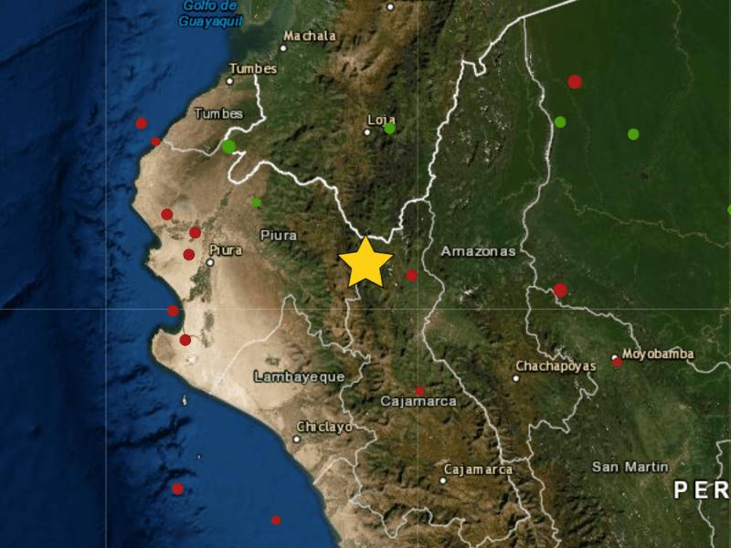 Temblor en Cajamarca