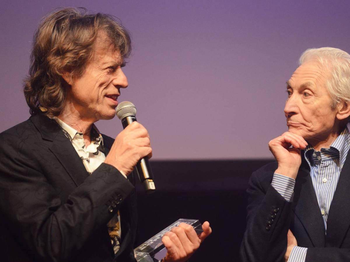 Charlie Watts y Mick Jagger