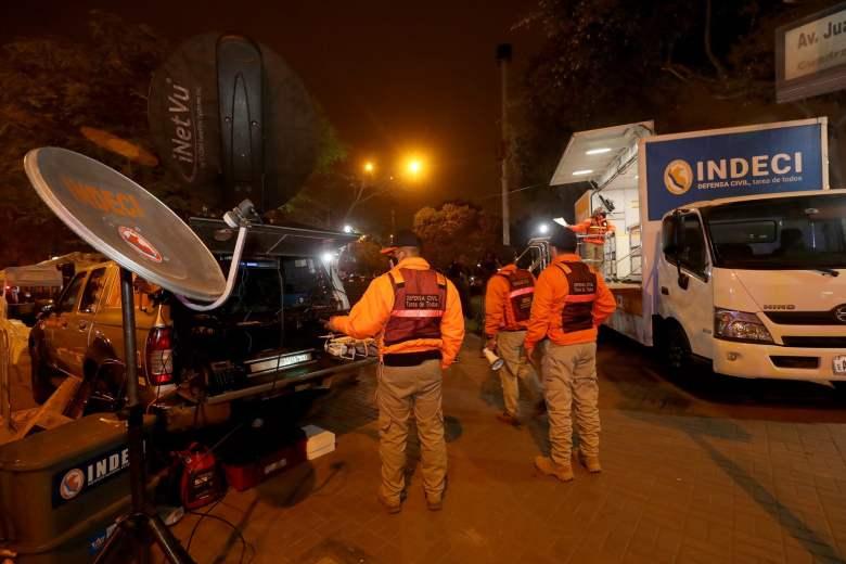 Sirena de sistema de alerta sísmica en Lima