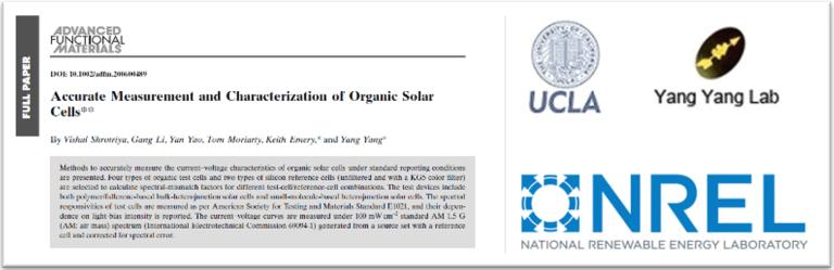 精準測量有機太陽能電池 Accurate Measurement Organic Solar Cell