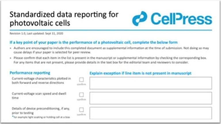 Science、Nature等顶刊发表与ISO 17025效率认证有什么关联? ISO 17025 效率认证 Cell Press PV Checklist 1
