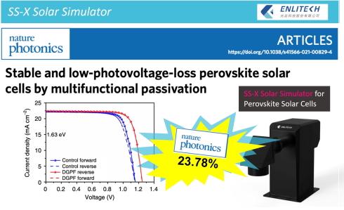 Solar Simulator for Perovskite Solar Cells 23.78% Nature Photonics SS-X