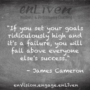 James Cameron quote on enLiven Wellness Coaching chalkboard reading,