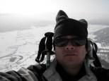 el fotografo yde fondo el valle de Lonquimay2011